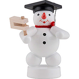 Snowman Musician with Ratchet - 8 cm / 3 inch