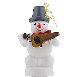 Snowman Musician with Symphonia - 8 cm / 3 inch