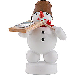 Snowman Musician with Washboard - 8 cm / 3 inch