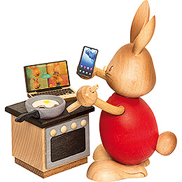 Snubby Bunny in Home Office - 12 cm / 4.7 inch