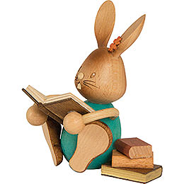 Snubby Bunny with Books - 12 cm / 4.7 inch