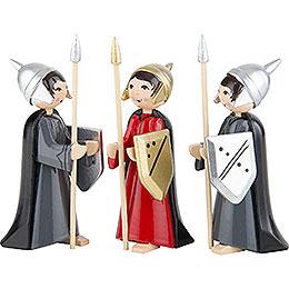 Soldaten des Herodes 3-teilig farbig - 7 cm
