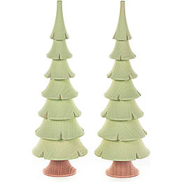 Solid Wood Trees - Bright Green - 2 pieces - 14,5 cm / 5.7 inch