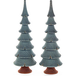 Solid Wood Trees - Green - 2 pieces - 14,5 cm / 5.7 inch