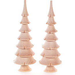 Solid Wood Trees - Natural - 2 pieces - 14,5 cm / 5.7 inch