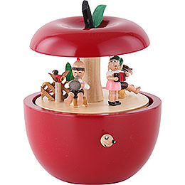 Spieldose Apfel Kinderkonzert - 14 cm