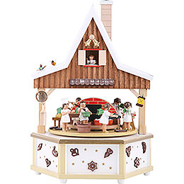 Spieldose Engelsbäckerei - 34 cm