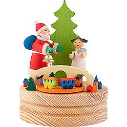 Spieldose Weihnachtsmann mit Christkind - 13 cm