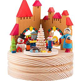 Spieldose Weihnachtsmarkt - 11,5 cm