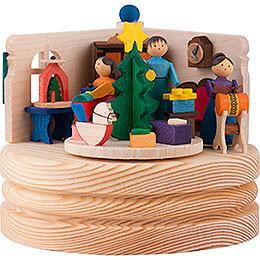 Spieldose Weihnachtsstube - 8,5 cm