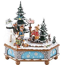 Spieldose Winterzeit - 20 cm