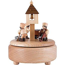 Spieldose mit arbeitenden Bergleuten - natur - 13 cm