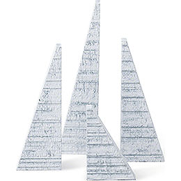 Spruces with Snow - Set of Four - 14 cm / 5.5 inch