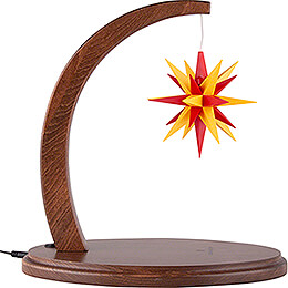 Star Arch Walnut with A1e Yellow-Red - 29 cm / 11.4 inch