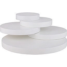 Steps with Five Disks, White - 10,5 cm / 4.1nch