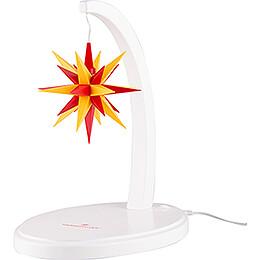 Sternenbogen weiß mit A1e gelb-rot - 29 cm