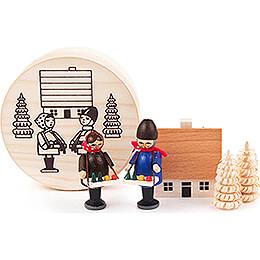 Striezel Children in Wood Chip Box - 4 cm / 1.6 inch