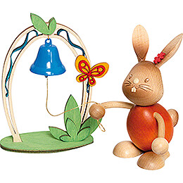 Stupsi Bunny with Bell - 12 cm / 4.7 inch