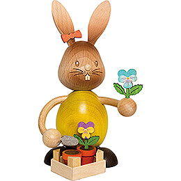 Stupsi Bunny with Pansies - 12 cm / 4.7 inch