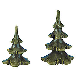 Summer Tree Set of Two - 6 & 8 cm / 2 & 3 inch