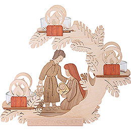 Tea Light Candle Holder - Nativity - 15 cm / 6 inch
