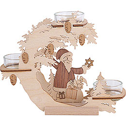 Tea Light Candle Holder - Santa Claus - 15 cm / 6 inch