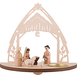 Tea Light Holder - Nativity - 16 cm / 6.3 inch