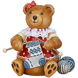 Teddy mini - Knitting Dolly - 7 cm / 2.8 inch