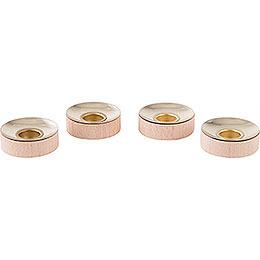 Teelichteinsätze für Kerzen 1,4 cm - 4er-Set