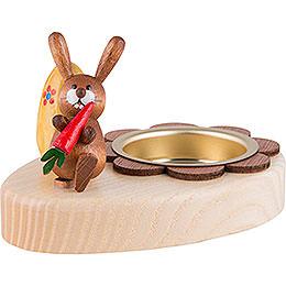Teelichthalter Hase mit Möhre und Ei - 5 cm