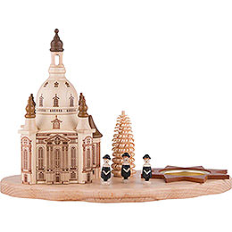Teelichthalter mit Dresdner Frauenkirche und Kurrende - 14,5 cm