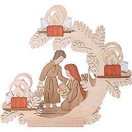 Teelichtkranz Christi Geburt - 15 cm