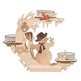 Teelichtkranz Schneemann - 15 cm