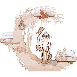 Teelichtkranz Vogelhaus - 15 cm