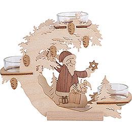 Teelichtkranz Weihnachtsmann - 15 cm