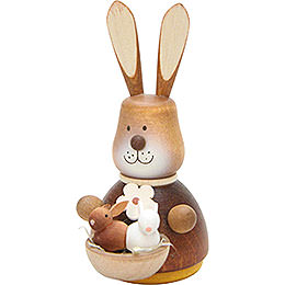 Teeter Bunny with Babies Natural - 9,8 cm / 3.9 inch