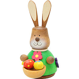 Teeter Bunny with Egg-Basket - 9,8 cm / 3.9 inch