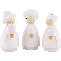 The Three Wise Men White/Natural - Small - 7 cm / 2.8 inch