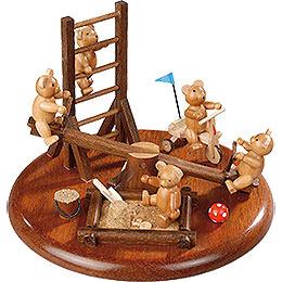 Theme Platform for Electr. Music Box 'Bear Playground' - 15 cm / 5.9 inch
