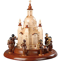 Theme Platform for Electr. Music Box - Brass Band at the Church of Our Lady - 15 cm / 6 inch