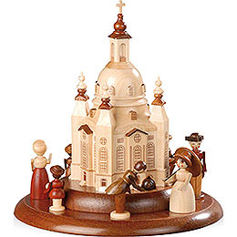 Theme Platform for Electr. Music Box - Historical Scene in Front of Church of Our Lady - 15 cm / 6 inch