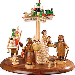 Theme Platform for Electr. Music Box - Town of Seiffen - 13 cm / 5 inch