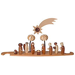 Theme Platform for Modern Light Triangle - Holy Family - Natural - 49x12 cm / 19.3x4.7 inch