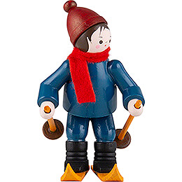 Thiel-Figur Abfahrtsläufer - bunt - 6,5 cm