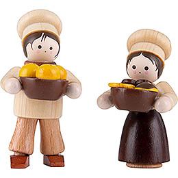 Thiel-Figur Bäckerkinder - natur - 4,7 cm