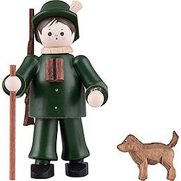 Thiel-Figur Förster mit Hund - bunt - 6 cm