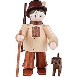 Thiel-Figur Förster mit Hund - natur - 6 cm