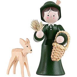 Thiel-Figur Försterin mit Reh - bunt - 5,5 cm