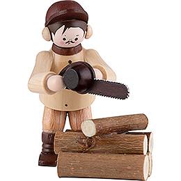 Thiel-Figur Kettensäger - natur - 2-teilig - 6 cm