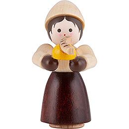 Thiel-Figur Mädchen mit Bratwurst - natur - 4 cm